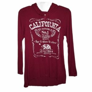Ocasion California Shirt Hoodie Pullover Red